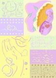Health background, medical. Woman health background, medical, lifestyle illustration work, rest, food, care royalty free illustration