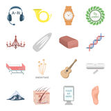 Health, beauty, food and other web icon in cartoon style.Hunting, entertainment, service icons in set collection. Health, beauty, food and other  icon in Royalty Free Stock Photos