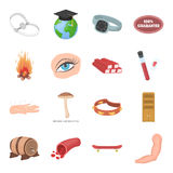 Health, beauty, food and other web icon in cartoon style.Hunting, entertainment, service icons in set collection. Health, beauty, food and other  icon in Stock Photo
