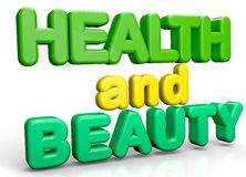 Health and Beauty. Isolate text abstract 3D concept vector illustration