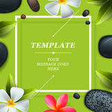 Health and beauty template, spa concept Royalty Free Stock Photos