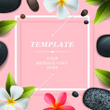 Health and beauty template, spa concept Royalty Free Stock Image