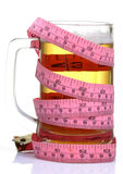 Health and beer Royalty Free Stock Photography
