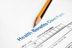 Health benefits claim form Stock Photography