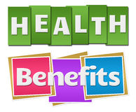 Health Benefits Colorful Stripes Squares Royalty Free Stock Images