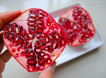 Health Benefits of Eating Pomegranate Royalty Free Stock Photo