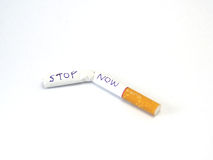 Stop smoking now for your healthy. royalty free stock photos