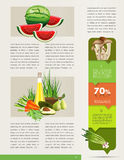Health brochure design. Stock Image