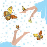 Health and butterflies Royalty Free Stock Photography