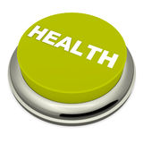 Health button. Health push button, good health and healthy living concept, on white background royalty free illustration