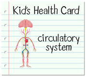 Health card with circulatory system Stock Photo