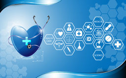 Health care abstract design and icon background Royalty Free Stock Image