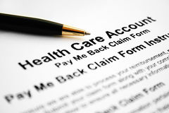Health care account Royalty Free Stock Image
