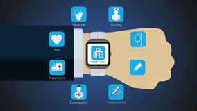 Health care application function for smart watch,mobile watch(included alpha). Weather application function for smart watch,mobile watch(included stock footage
