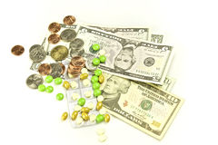 Health care and bills Royalty Free Stock Photos
