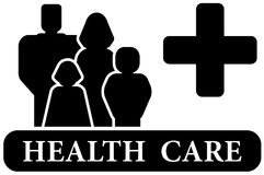 Health care black icon Royalty Free Stock Image
