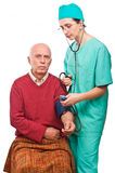 Health care blood pressure check Stock Image