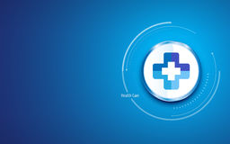 Health care clean design background with medical cross hospital clinic doctor symbol circle button Royalty Free Stock Photography