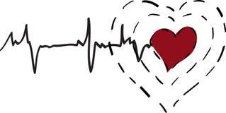 Health care concept. Health care conceptual illustration. Vector heart Royalty Free Stock Photos