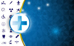 Health care concept abstract design background Royalty Free Stock Photo
