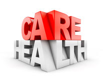 Health Care construction sign Royalty Free Stock Photography
