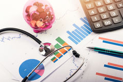 Health care costs and budget planning concept Royalty Free Stock Photo