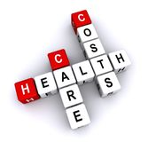 Health care costs crosswords. An illustration of health care crosswords on a white background Stock Photography