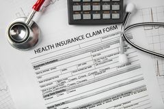 Health care costs. royalty free stock image