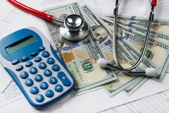Health care costs stock photos