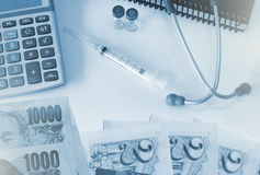 Health care costs or medical insurance Stock Photo