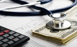 Health care costs. stock photo