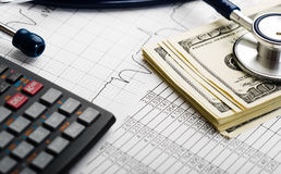 Health care costs. Stock Photos