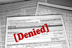 Health Care Denied stock images