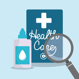 Health care eyedropper bottle search Royalty Free Stock Photo