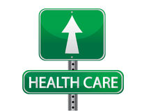 Health care green illustration sign Royalty Free Stock Photo