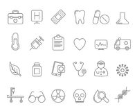 Health Care and hospital icons Stock Photo
