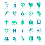 Health Care icons stock illustration