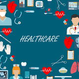 Health care icons for operating room Stock Photo