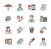 Health care icons Stock Photography