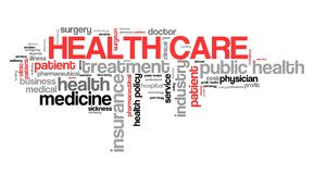 Health care. Issues and concepts. Word cloud sign vector illustration