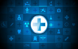 Health care logo and medical icon rectangle pattern background Stock Photos
