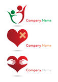 Health care logos. Several logo elements, which can be used for your company logo Vector Illustration