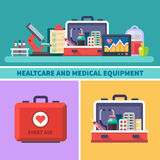 Health care and medical equipment Royalty Free Stock Images