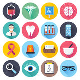 Health Care and Medical Flat Icon Set Royalty Free Stock Photography