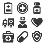 Health Care Medical Icons Set. Vector Royalty Free Stock Photos