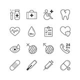 Health-care and medical Icons - Vector illustration , Line icons set Stock Photo