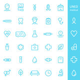 Health Care and Medical Lined Icons Set Stock Images
