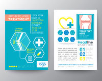 Health Care and Medical Poster Brochure Flyer design Layout Stock Images