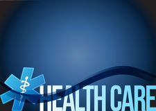 Health care medical symbol illustration design. Over a blue background Stock Images