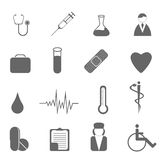 Health care and medical symbols. Health care and medical icon set Royalty Free Stock Image
